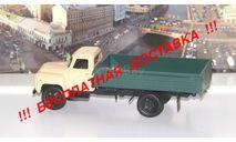 ГАЗ  53-12 бортовой, бежевый / зеленый     НАП, масштабная модель, scale43, Автоистория (АИСТ)