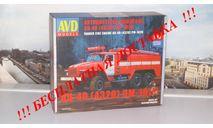 Сборная модель Пожарная цистерна АЦ-40 (4320) ПМ-102В AVD Models KIT, масштабная модель, 1:43, 1/43, Автомобиль в деталях (by SSM), УРАЛ