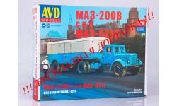 Сборная модель МАЗ-200В с полуприцепом МАЗ-5217   AVD Models KIT