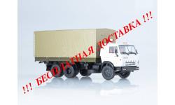 КАМАЗ-53212 бортовой с тентом ПАО КАМАЗ, масштабная модель, 1:43, 1/43