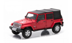 Jeep Wrangler 4x4 Unlimited Freedom Edition 5 Doors (Soft Top) 2014 Flame Red 1/43, масштабная модель, Greenlight Collectibles, scale43