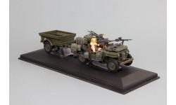 Jeep CJ-2A Willys USA Army с фигуркками с прицепом 1/43, масштабная модель, Bauer/Cararama/Hongwell, scale43