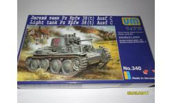 Легкий танк Pz Kpfw 38(t) Ausf.C, сборные модели бронетехники, танков, бтт, 1:72, 1/72, UM
