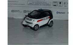 Полицейские Машины Мира №45 - Smart City Coupe, журнальная серия Полицейские машины мира (DeAgostini), 1:43, 1/43