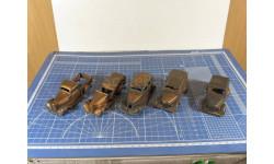 ГАЗ Болванки из меди 5 шт. 1/43 Херсон-Моделс, масштабная модель, 1:43