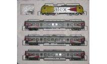 модель 'Alex' набор Br20 и 3 вагона, железнодорожная модель, 1:120, 1/120