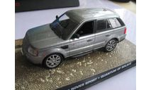 Range rover sport 007, масштабная модель, 1:43, 1/43
