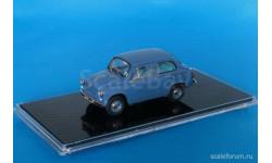ЗАЗ 965A Запорожец (1962-1964), синий, масштабная модель, ICV, 1:43, 1/43