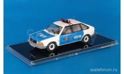 МОСКВИЧ 21412 Милиция Москва ГАИ (1991), белый / синий, масштабная модель, ICV, 1:43, 1/43