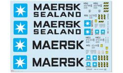 Набор декалей 0025 Контейнеры Maersk (100х140), фототравление, декали, краски, материалы, maksiprof, 1:43, 1/43