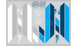 Набор декалей 0158 Контейнеры ТрансКонтейнер на маз (вариант 4) (200х70), фототравление, декали, краски, материалы, maksiprof, scale43