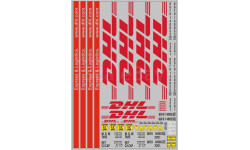 Набор декалей 0215 Контейнеры DHL  (200х140), фототравление, декали, краски, материалы, maksiprof, scale43