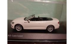 Audi A5 Convertible 2017  white metallic, масштабная модель, Spark, 1:43, 1/43