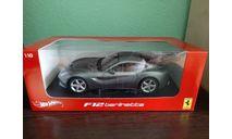 Ferrari F12 Berlinetta, масштабная модель, Hot Wheels, 1:18, 1/18