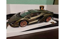 Lamborghini Sian FKP 37  2020, масштабная модель, BBurago, 1:18, 1/18