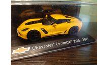Chevrolet Corvette Z06 2017, масштабная модель, Altaya Supercars, scale43