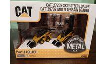 Caterpillar 272D2/297D2 Skid Steer Loader + Multi Terrain Loader, масштабная модель трактора, Diecast Masters, 1:64, 1/64