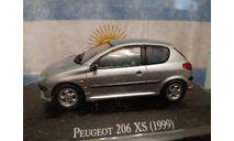 Peugeot 206 XS 1999, масштабная модель, Altaya, scale43