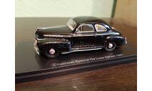 Chevrolet Special De Luxe Coupe 1941, масштабная модель, scale43