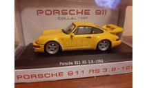 Porsche  911 RS 3.8 1992, масштабная модель, Atlas, scale43