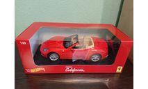 Ferrari California, масштабная модель, Mattel Hot Wheels, scale18