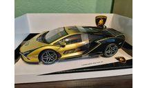 Lamborghini Sian FKP 37 #63, масштабная модель, BBurago, 1:18, 1/18