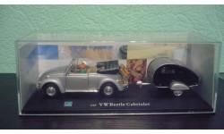 Volkswagen Beetle Cabriolet с прицепом, масштабная модель, Bauer/Cararama/Hongwell, scale43