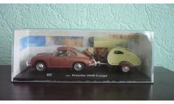 Porsche 356B Coupe с кемпером, масштабная модель, Bauer/Cararama/Hongwell, scale43