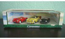 Porsche  550 и 356 (набор из 3 шт), масштабная модель, Bauer/Cararama/Hongwell, 1:43, 1/43
