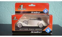Rolls Royce cabriolet, масштабная модель, Solido, scale43, Rolls-Royce