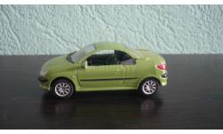 Peugeot 206 СС. Ранняя Cararama. Двери открываются., масштабная модель, Bauer/Cararama/Hongwell, scale43