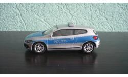 Volkswagen Scirocco Police, масштабная модель, Welly, scale43