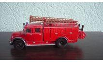 Magirus Tanklöschfahrzeug Feuerwehr, масштабная модель, Siku, scale50