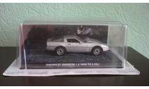 Chevrolet Corvette 1985   'A VIEW TO A KILL'  007 Bond, масштабная модель, The James Bond Car Collection (Автомобили Джеймса Бонда), 1:43, 1/43