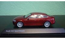 Audi A5 Sportback  (B9)   matador red, масштабная модель, Spark, 1:43, 1/43