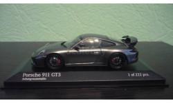 Porsche 911 (991 II) GT3  2017  grey metallic, масштабная модель, Minichamps, 1:43, 1/43