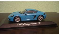 Porsche 718 Cayman S 2016 lightblue, масштабная модель, Minichamps, 1:43, 1/43