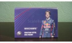 Red Bull Racing Arai Helm GP Monaco  Weltmeister Vettel 2011 Шлем 1/8, масштабная модель, Minichamps, scale8