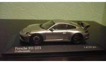Porsche 911 (991 II) GT3 2017 silver, масштабная модель, Minichamps, scale43