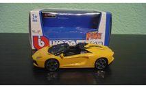 Lamborghini Aventador LP700-4 Roadster  Yellow, масштабная модель, Bburago, 1:43, 1/43