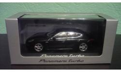 Porsche Panamera Turbo 2014 black, масштабная модель, Minichamps, scale43