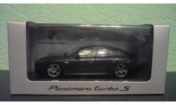 Porsche Panamera Turbo S  2014 карбоновый серый, масштабная модель, Minichamps, scale43