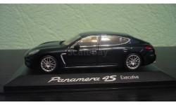 Porsche Panamera 4S Executive  2014 темный синий, масштабная модель, Minichamps, scale43