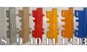 РЕШЕТКА РАДИАТОРА НА КАМАЗ 55111-005 САМОСВАЛ ЕВРОКАБИНА ЭЛЕКОН №10 КРАСНАЯ, запчасти для масштабных моделей, 1:43, 1/43