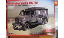 Хеншель 33Д1, сборная модель автомобиля, ICM, Henschel, scale35
