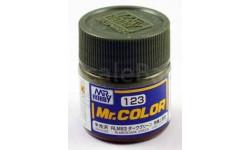 С 123 темно-зеленый полуматовый краска эмалевая, фототравление, декали, краски, материалы, MR.COLOR, scale0