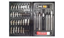 набор ножей с цанговым зажимом 51 предмет jas