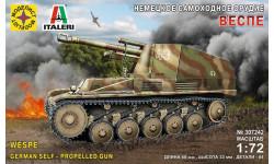 немецкое самоходное орудие веспе, сборные модели бронетехники, танков, бтт, бронетехника, моделист, 1:72, 1/72