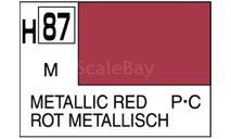 Н 87 металлический красный металлик краска акриловая 10мл, фототравление, декали, краски, материалы, MR.HOBBY
