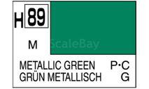 Н 89 металлический зеленый металлик краска акриловая 10мл, фототравление, декали, краски, материалы, MR.HOBBY